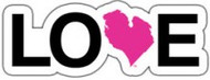 "4"" x 1"" sticker - pink heart"
