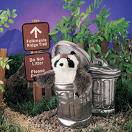Folkmanis Raccoon in Trash Can Puppet