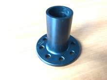 Guying collar for telescopic pole or mast