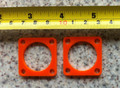 Perspex guying ring for telescopic pole or mast.