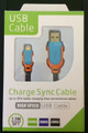 5Ft 1.5M Dual Color Fabric Braided USB Data Sync Charger Cable Cord for iPhone 5 5S 5C,for ipad air/mini