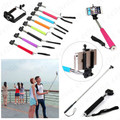 Extendable Self Portrait Selfie Stick Handheld Monopod Holder for Camera iPhone / Samsung Galaxy / Sony / HTC / Cell Phone, ORANGE.