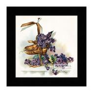 Brown Bootie with Violets - Framed Art Print