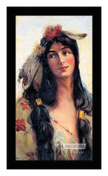 Indian Maiden - Deering Binder Twine 1909 - Framed Art Print