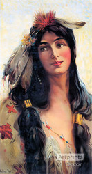 Indian Maiden - Deering Binder Twine 1909 by Raphael Beck - Art Print