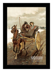 Love in Olden Days - Framed Art Print