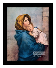 Madonna of the Streets - Framed Art Print