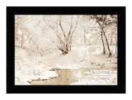 Winter Stream - Framed Art Print