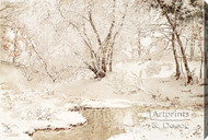 Winter Stream by Walter Launt Palmer - Stretched Canvas Art Print