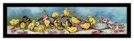 Yard full of Chicks & Violets - Framed Art Print