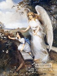 Guardian Angel of the Bridge II by M.M. Haghe - Art Print