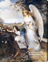 Guardian Angel of the Bridge II by M.M. Haghe - Stretched Canvas Art Print