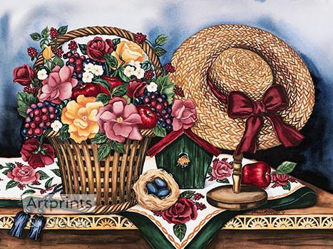 Garden Treasures by Laurie Korsgaden - Art Print