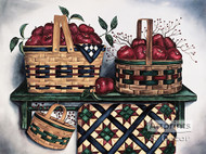 Baskets & Quilt by Laurie Korsgaden - Art Print