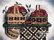 Baskets & Quilt by Laurie Korsgaden - Art Print