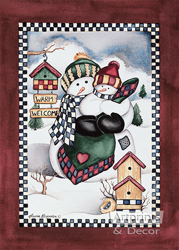 Winter Welcome by Laurie Korsgaden - Art Print