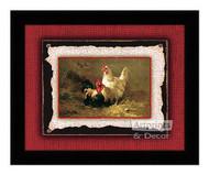 Poultry Pair - Framed Art Print