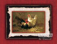 Poultry Pair by C.H. Jacquez - Art Print