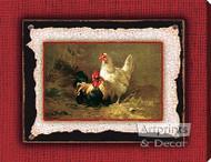 Poultry Pair by C.H. Jacquez - Stretched Canvas Art Print