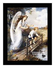 Guardian Angel of the Bridge I - Framed Art Print