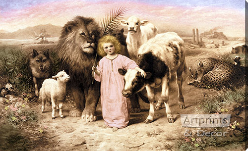 A Little Child Shall Lead Them by William Strutt - Stretched Canvas Art Print