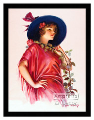 One Long Stemmed Rose - Framed Art Print