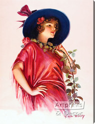 One Long Stemmed Rose by F. Earl Christy - Stretched Canvas Art Print