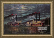 Two Ships Passing in the Night - Framed Art Print