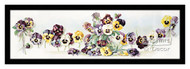 Bouquet of Pansies - Framed Art Print