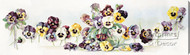 Bouquet of Pansies by Heinmüller - Stretched Canvas Art Print