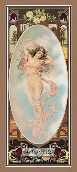 The Four Seasons - Summer by Maud Humphrey - Art Print