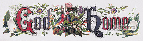 God Bless Our Home - Art Print
