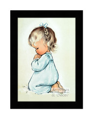A Child's Prayer - Framed Art Print