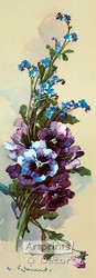 Pansies & Forget-Me-Nots by Catherine Klein - Art Print