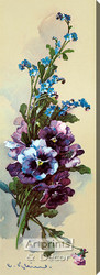 Pansies & Forget-Me-Nots by Catherine Klein - Stretched Canvas Art Print