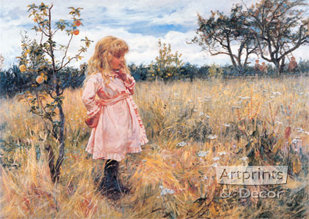 Picking Apples by Frederick Morgan - Art Print