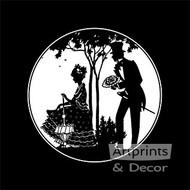 Romance - Silhouette - Art Print