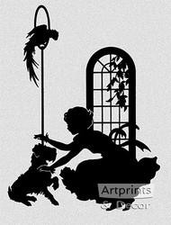 Playmates - Silhouette - Art Print