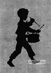 Drummer Boy - Silhouette - Art Print