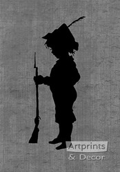 Little Soldier - Silhouette - Art Print