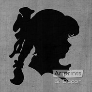 Little Girl - Silhouette - Art Print