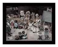 Ms. Tabitha's Cats' Academy - Framed Art Print