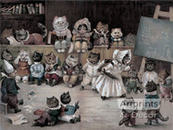 Ms. Tabitha's Cats' Academy by Louis Wain - Art Print