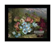 A Basket Full of Flowers - Framed Art Print