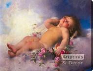 Sleeping Cherub by Leon Perrault - Stretched Canvas Art Print