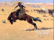 A Cold Morning On The Range by Frederick Remington - Stretched Canvas Art Print