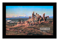 Men of the Open Range - Framed Art Print