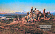 Men of the Open Range by Charles Marion Russell - Art Print