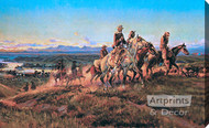 Men of the Open Range by Charles Marion Russell - Stretched Canvas Art Print