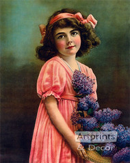 Girl with Lilacs - Art Print